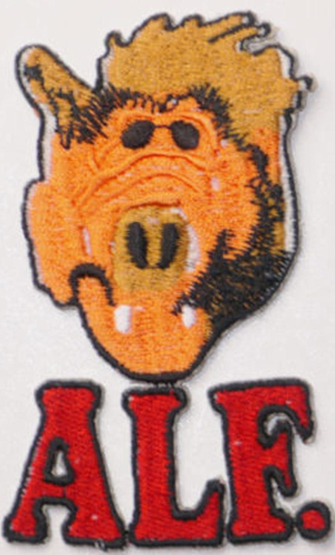 Dibujos animados grandes Alf extranjero vida forma parche Badge bordado hierro o coser en 8 cm x 5 cm: Amazon.es: Hogar