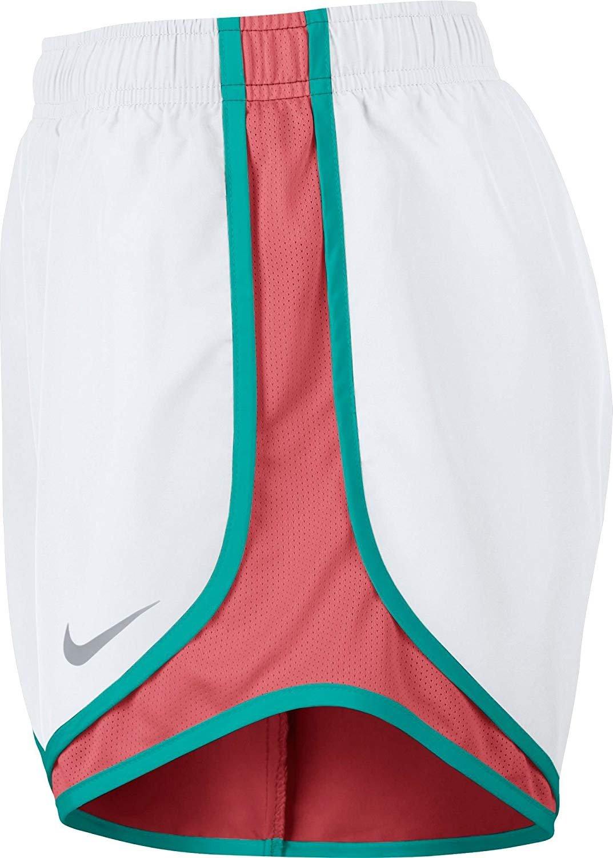 Women's Nike Dry Tempo Running Short (White/Sunblush/V/Ltfusred, Large) by NIKE (Image #2)