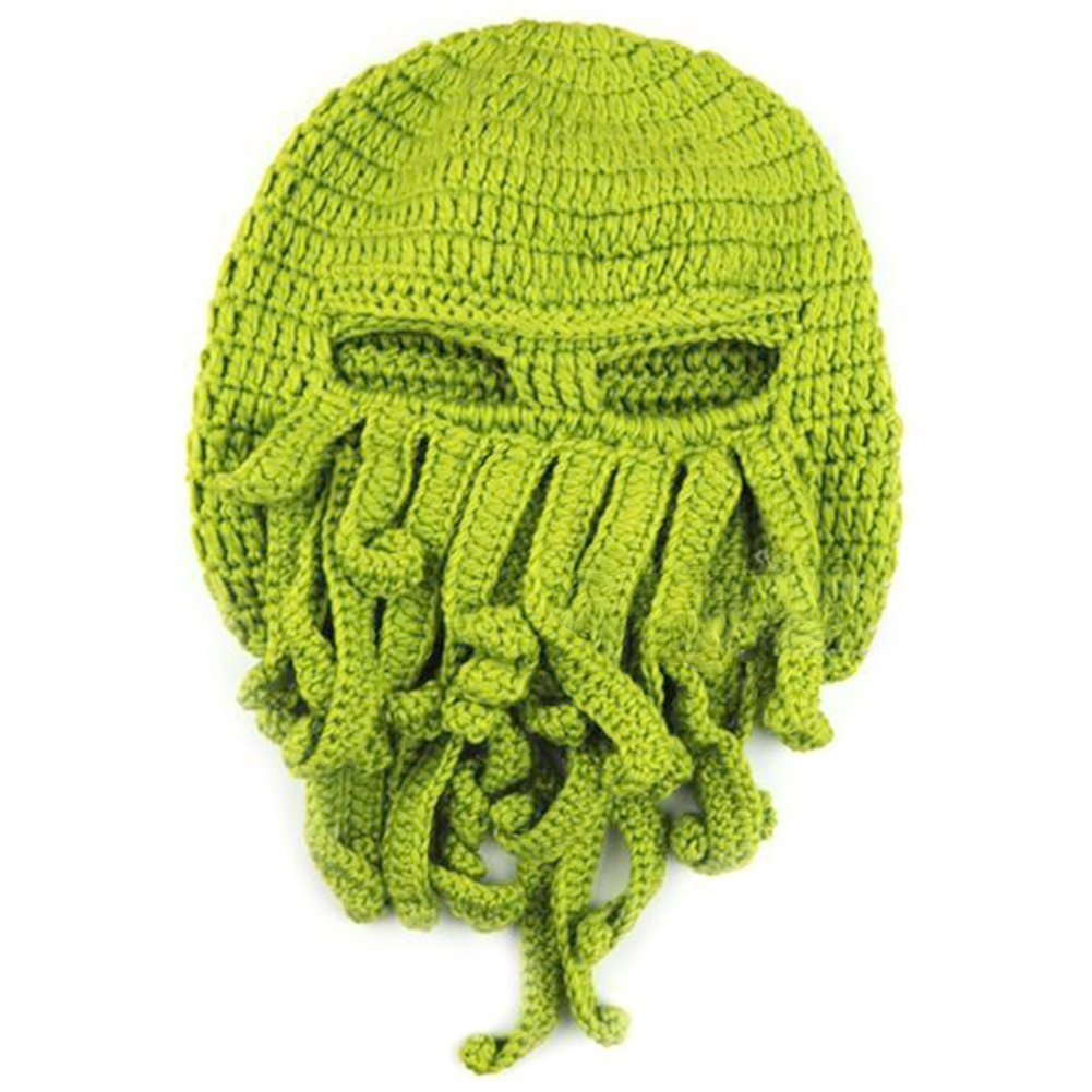 Amazon Tentacle Octopus Cthulhu Knit Beanie Hat Fisher Cap Wind