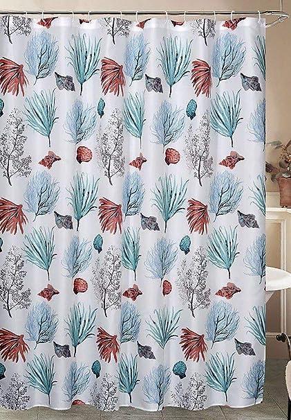 Amazon Caribbean Joe Isle Shower Curtain Hook Set One Size