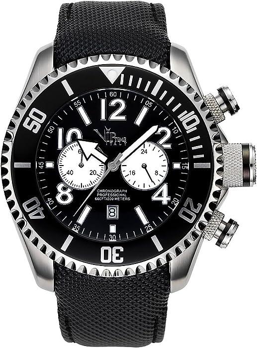 V.I.P. Time VP5001BK - Reloj de caballero de cuarzo, correa de caucho color negro