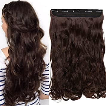 S Noilite 17 27 125g Thick Straight Curly Wavy One Piece Clip In Hair Extensions Any Color 5 Clips