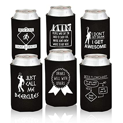 Amazoncom Funny Beer Can Coolers 6 Pack Party Favor Drink