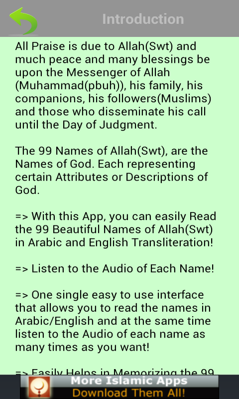 Amazon 99 Allah Names Pro Islam Appstore For Android