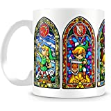 The Legend of Zelda Stained Glass Design 11oz Ceramic Coffee Mug by Cotton Cult