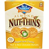 Blue Diamond Almond Nut Thins Cracker Crisps, Pepper Jack Cheese, 4.25 Ounce