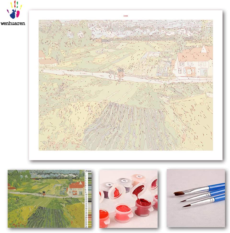 pintura famosa de melocot/ón en el Crau Kit de pintura al /óleo para ni/ños adultos principiantes con pinceles y pigmento acr/ílico estudiantes