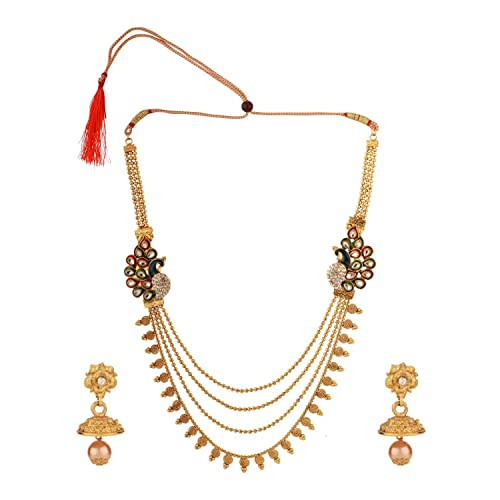 Buy Efulgenz Antique Traditional Temple Gold Plated Ethnic Peacock