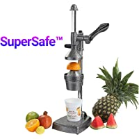 Kitchen Crown Supersafe Aluminium Hand Press Juicer Big, Black