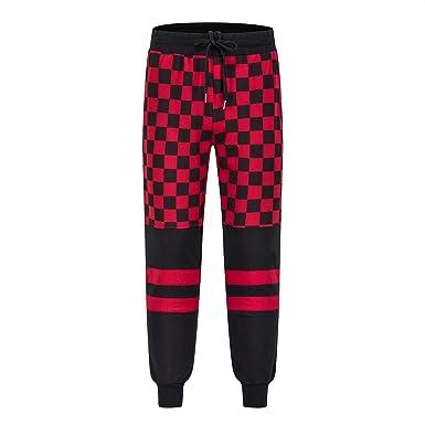 Frozac Joggers Pantalones Hombres Street Wear Fitness Pantalones Funky Sudor Pantalones Casual Rojo XS