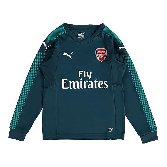 Arsenal Home Goalkeeper Shirt 2017-18 - Kids - 13-14 Years Green ... 5d3d0d341