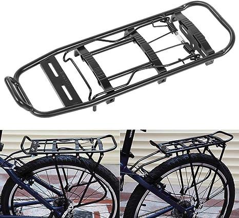AYNEFY Portaequipajes Bicicleta Accesorios Soporte, Bicicleta de Montaña Duradera Bicicleta Asiento Trasero Equipaje Estante Portaequipajes Accesorio para Ciclismo: Amazon.es: Deportes y aire libre