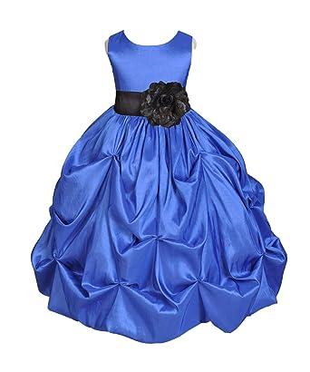 af8cbb3cd1f ekidsbridal Royal Blue Pick-up Bubble Taffeta Flower Girl Dresses  Graduation Dress Birthday Girl Dresses