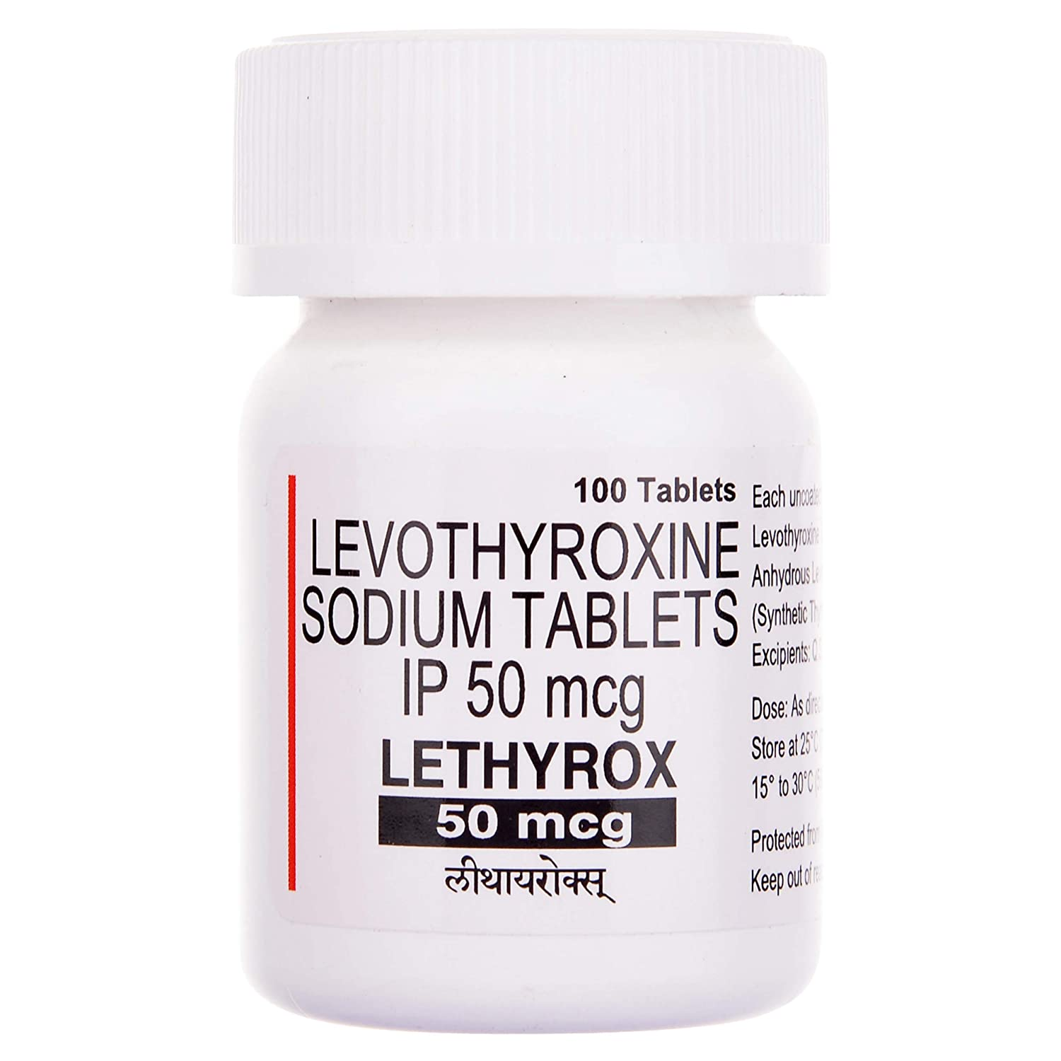 Lethyrox 50 Mcg Bottle Of 100 Tablets Amazon In