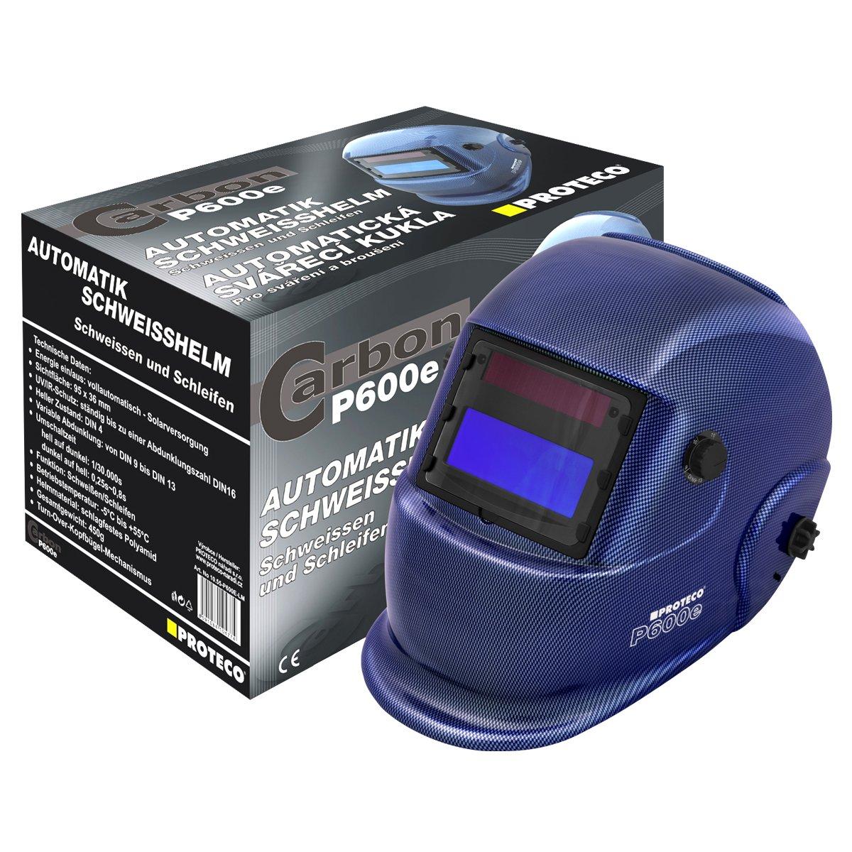 PROTECO de herramientas® p600e Solar Casco de soldar automático - Casco de soldador soldar Máscara sudor Cartel automático casco azul: Amazon.es: Bricolaje ...