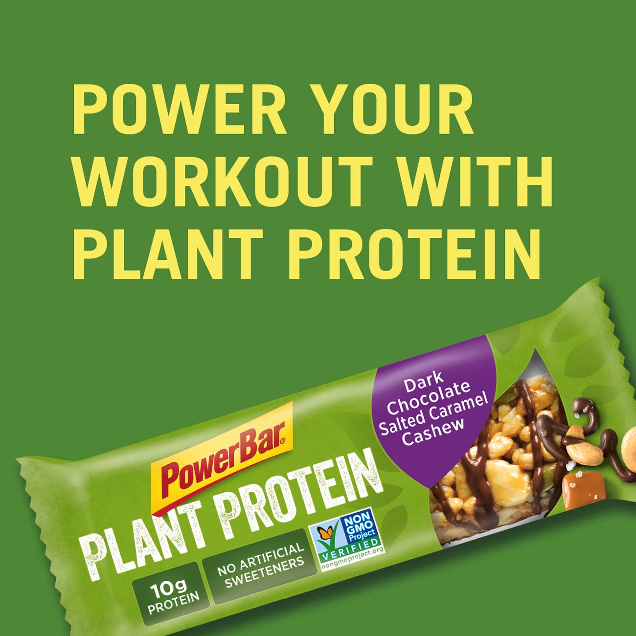 PowerBar Plant Protein Bar, Dark Chocolate Salted Caramel Cashew, 15 Count, Pack of 1 by Powerbar (Image #5)