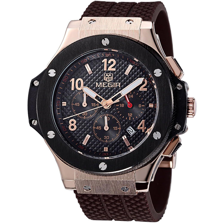 baogela Herren Analog Quartz Classic Sport Armbanduhr mit Silikon Band