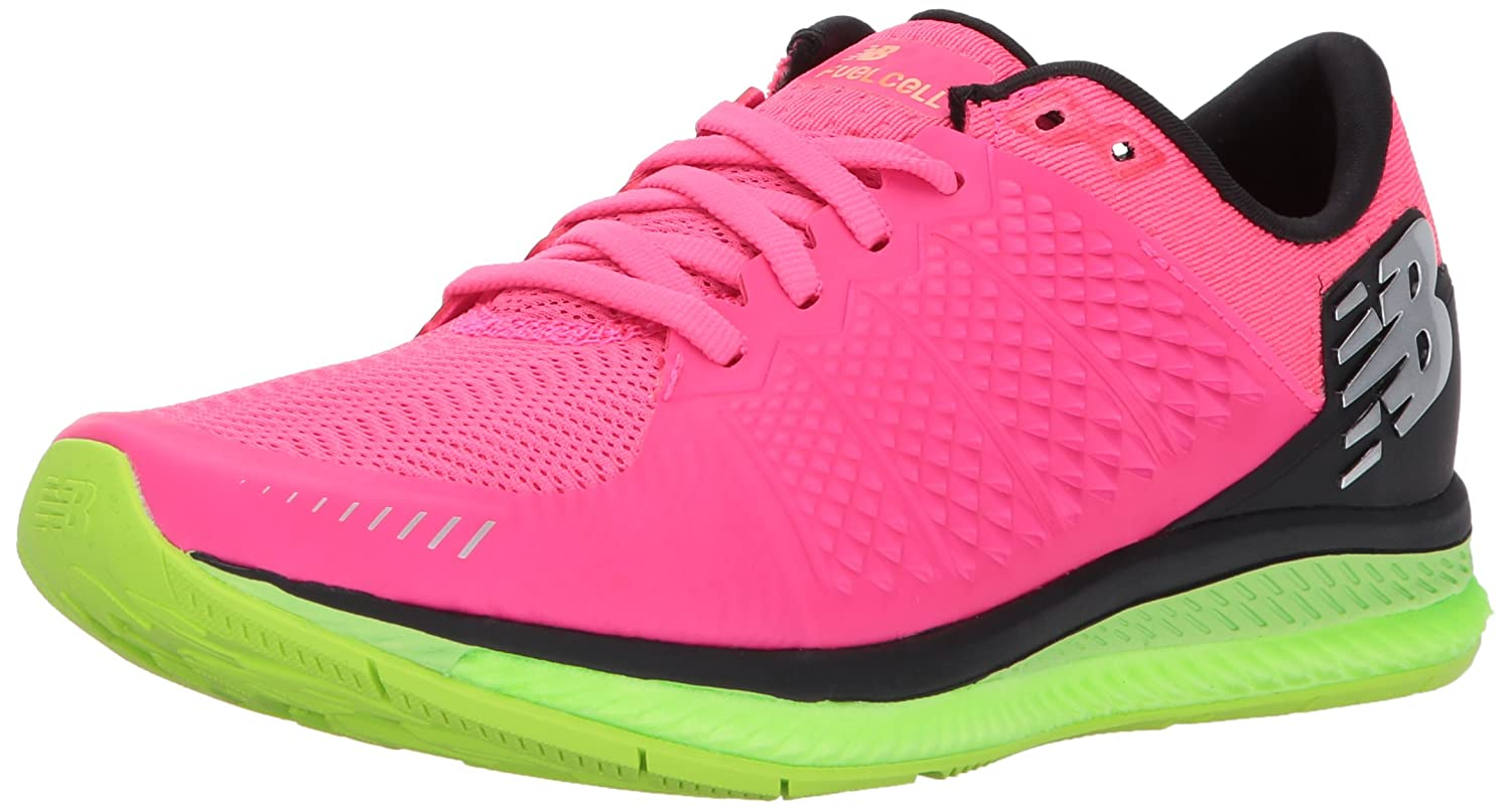New Balance Women's FuelCell Running Shoe B01N0GK99P 7 B(M) US|Alpha Pink/Lime Glo