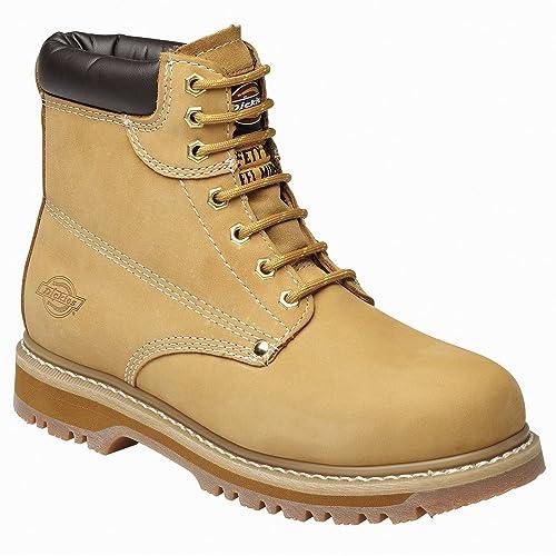 Dickies Cleveland Botas de Seguridad Super (FA23200), Color Amarillo, Talla 45 EU
