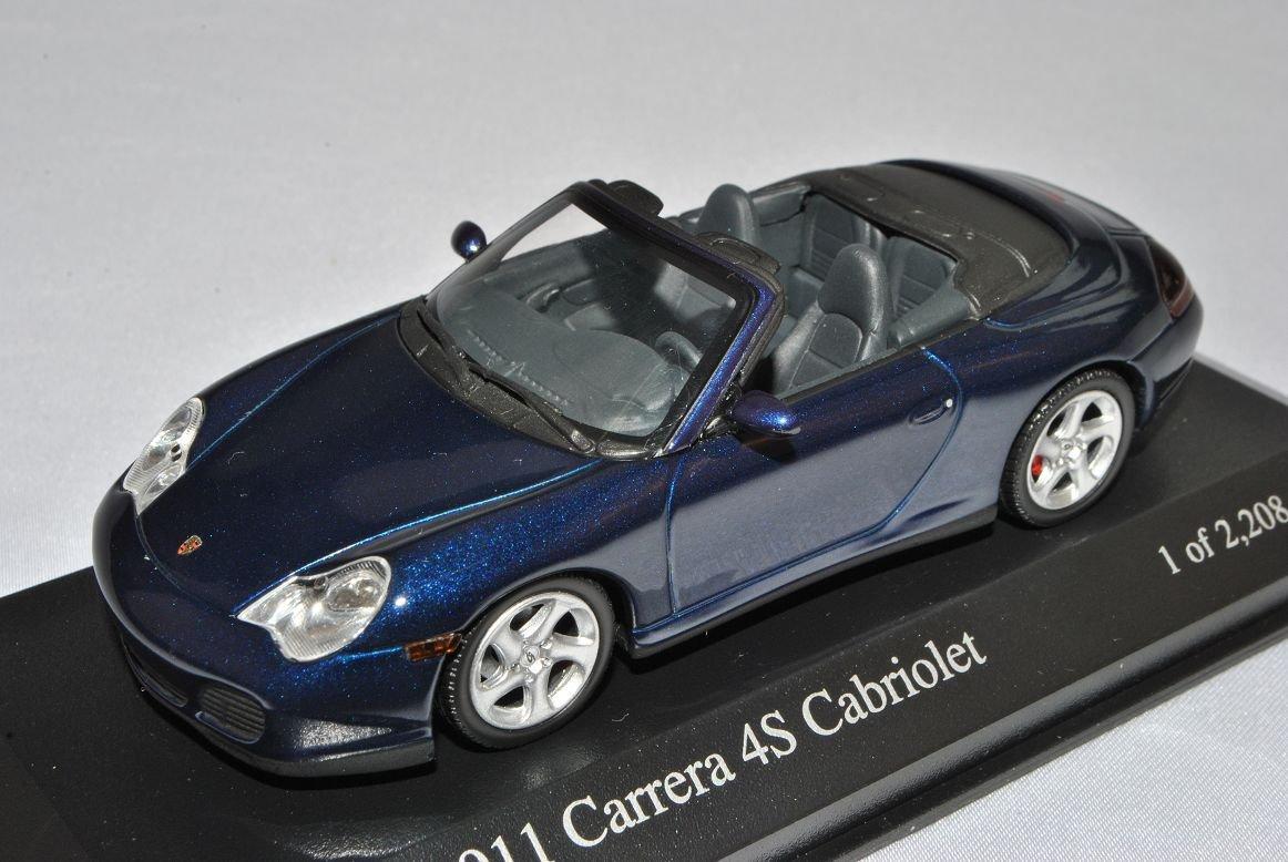 Minichamps Porsche 911 996 4S Cabrio Blau 1997-2004 1/43 Modell Auto mit individiuellem Wunschkennzeichen