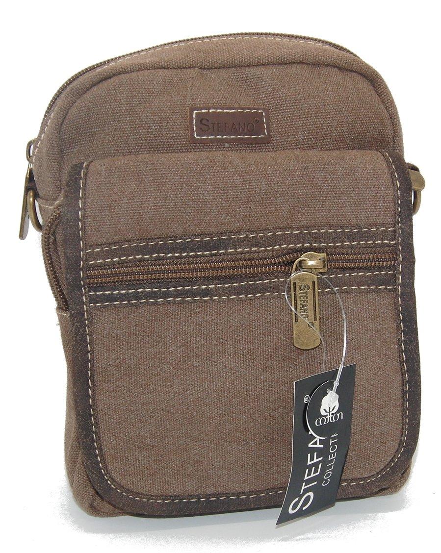 0e1dce4bb8d57 STEFANO Canvas Damentasche Vintage Herren Tasche Schultertasche  Umhängetasche Handtasche Rucksack verschiedene Modelle  Amazon.de  Koffer