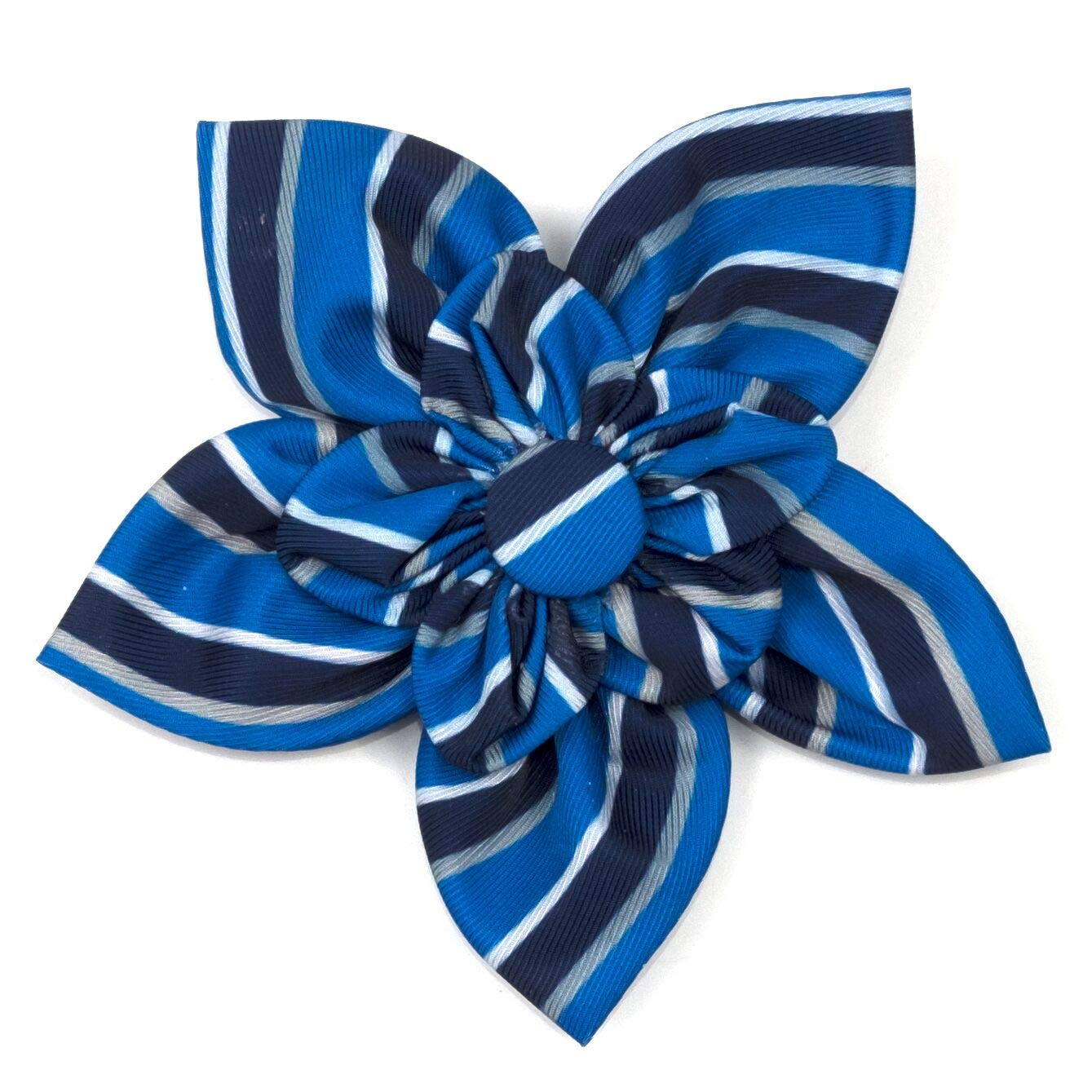 The Worthy Dog Prep Stripe bluee and Black Pattern Flower for Petsbluee, LG