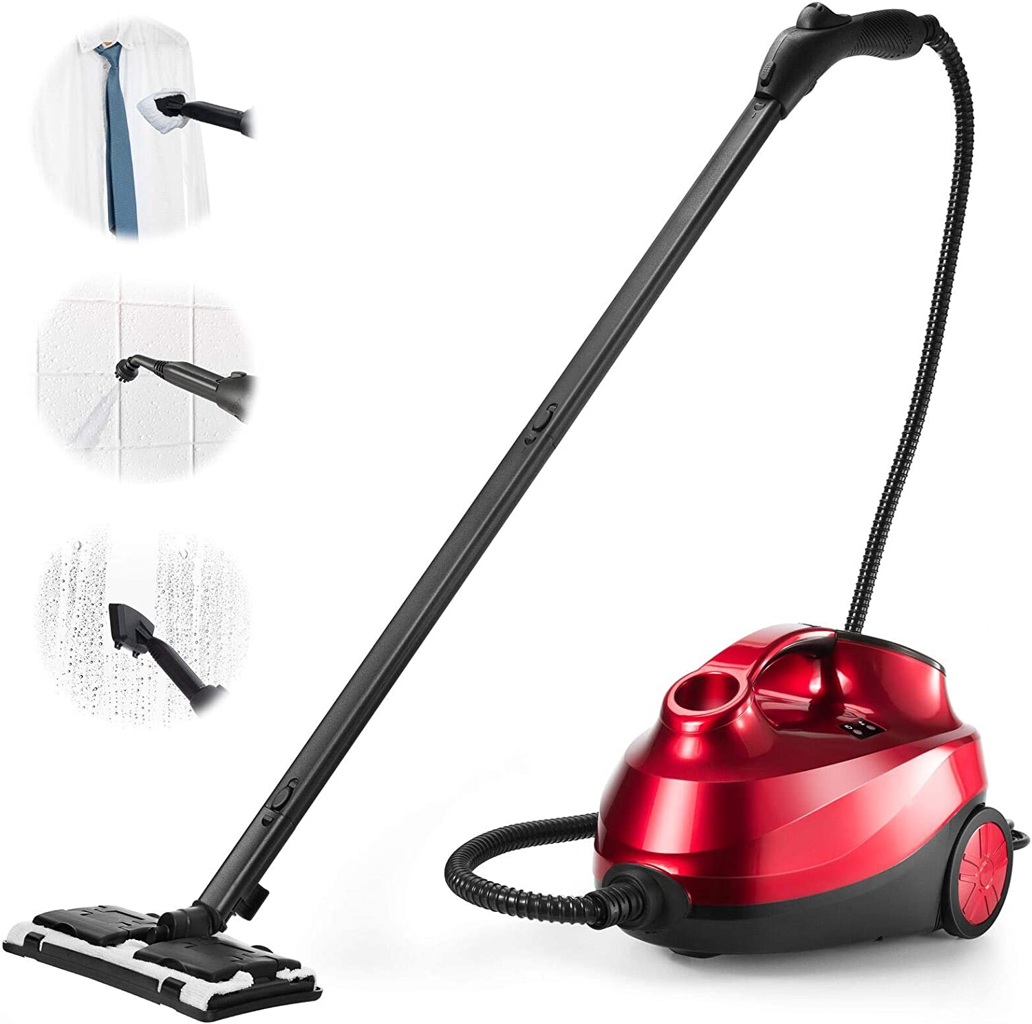 ARLIME Steam Cleaner with 19 Accessories, Multipurpose Heavy Duty Household Steamer with 1.5L Tank & Extra-Long Power Cord, Chemical-Free Cleaning for Carpet, Cars, Floors, Home use and More, 2000W