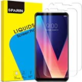 LG V30 / LG V30+ Screen Protector, SPARIN 2 PACK 3D Curved Maximum Coverage Wet Applied Screen Protector with Case Friendly / Bubble Free / Response Quickly / HD / Adhesion Strongly, 6 inch
