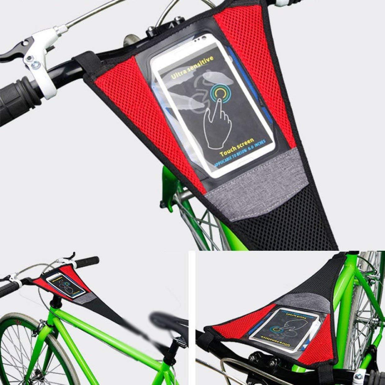YUIO Road Mountain Bicicleta Cubierta de Sudor Bicicleta Impermeable Turbo Trainer Absorber el Sudor Correa de protecci/ón Cubierta de Red con Bolsa para tel/éfono