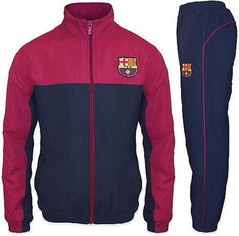 FC Barcelona - Chándal oficial para niño - Chaqueta y pantalón largos: Amazon.es: Ropa y accesorios