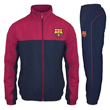 0f7975b258f4 FC Barcelona Official Soccer Gift Mens Jacket   Pants Tracksuit Set Small