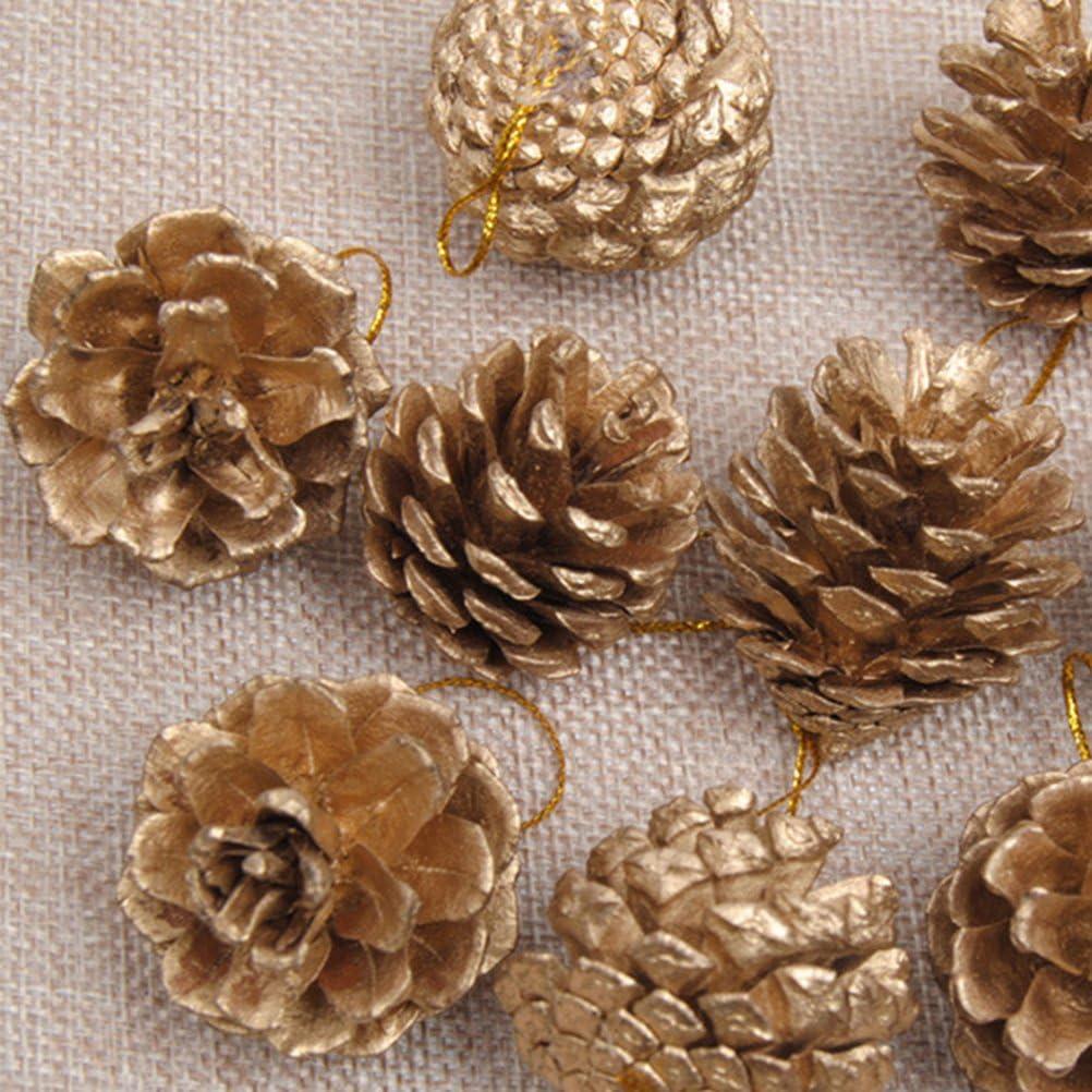 Piñas de la Navidad ROSENICE Piñas Naturales adornos de Navidad de ...