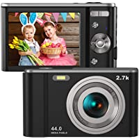 "Digital Camera HD 2.7K 44 MP Vlogging Camera with Webcam, Point & Shoot Digital Camera with 2.88"" IPS Screen, 16X…"
