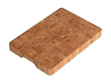 Kesper 55101 Schneidebrett Bambus 35 X 25 X 4 Cm Amazon De Kuche