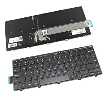 Nuevo teclado retroiluminado para portátil Dell Latitude 3460 PK1313P1B00 NSK-LQ0BC 021H9JPK1313P2B00 V147125BS1 PK13P1B09 NSK-LQ0BC 1D 01 US diseño color ...