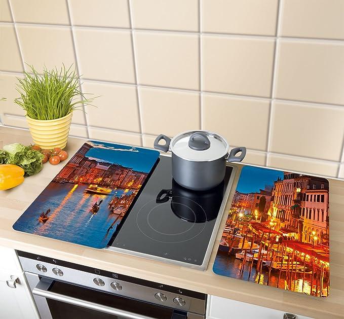 Wenko Juego de Cubiertas de Cocina Universal Hot Peperoni, Multicolor, 52x30x4.5 cm, 2 Unidades