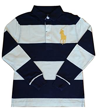 f4a07d5a7f7 Ralph Lauren Boys Long Sleeve Polo Rugby Shirt Top L S Dark Navy Blue