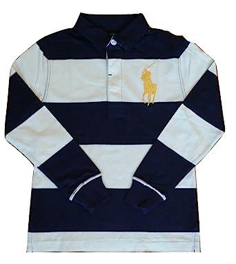 86ce2efa Ralph Lauren Boys Long Sleeve Polo Rugby Shirt Top L/S Dark Navy Blue &