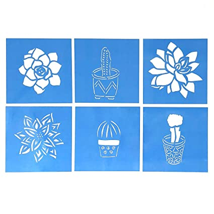 Amazon Com Cactus And Succulent Stencil Templates Set Of Six 4