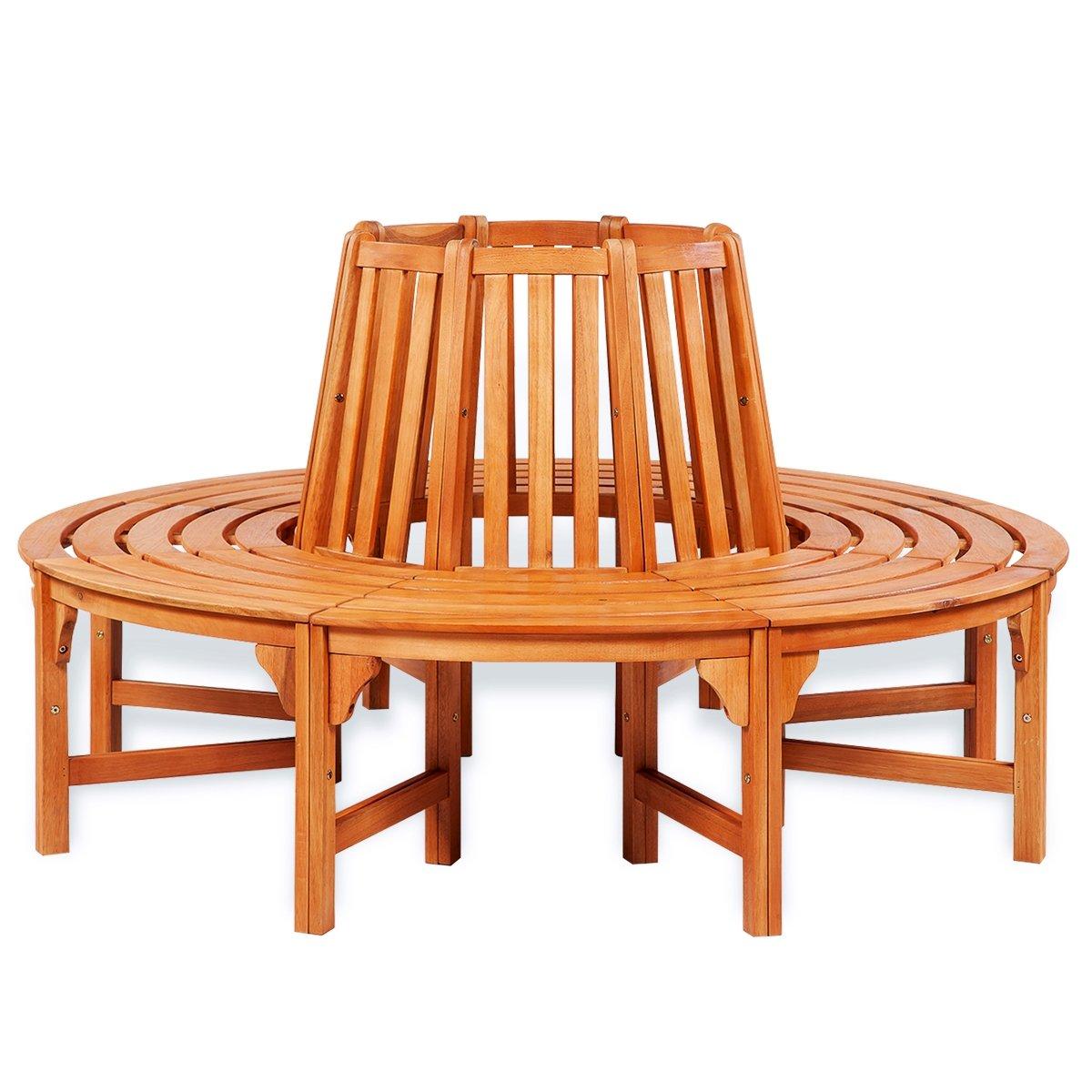 VidaXL Rundbank Baumbank Holzbank Gartenmöbel Sitzgruppe Gartenbank  Eukalyptus Hartholz Kaufen