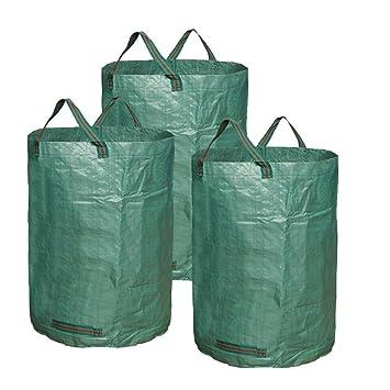 2aaa77bd5 JTDEAL 3 Piezas Bolsas De Basura De Jardín, Sacos Jardin 300 Litros,  Plegables Y Resistente al agua, Saco Polipropileno ...