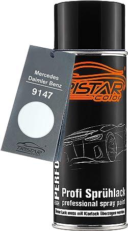 Tristarcolor Autolack Spraydose Für Mercedes Daimler Benz 9147 Arktikweiss Blanc De Serie Cabine Basislack Sprühdose 400ml Auto