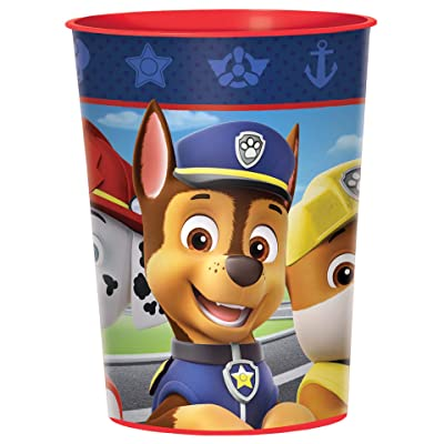 "PAW Patrol Adventures"" Blue Party Favor Plastic Cup 16 Oz.: Toys & Games,"""