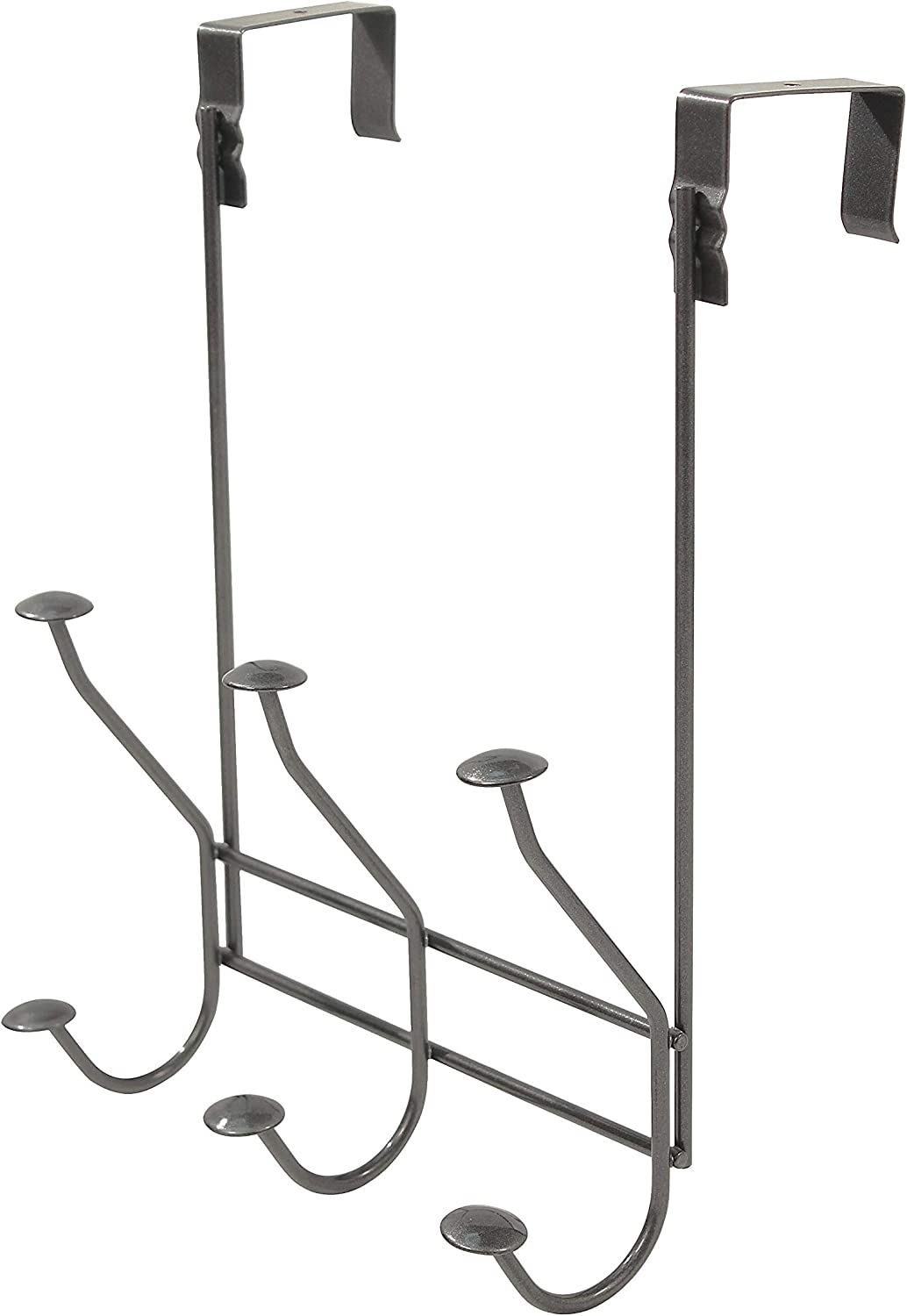 Spectrum Diversified Windsor 3, Door Hooks for Closet Bathroom & Laundry Room, Jacket & Towel Rack, Clothes Hanger for Small Spaces, Industrial Gray