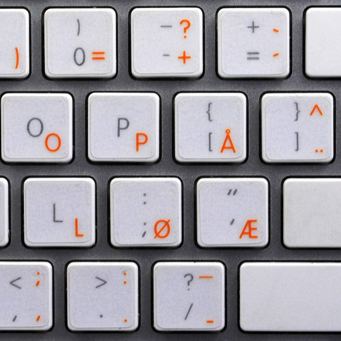 Adhesivo para teclado de Apple con letras naranja y fondo ...