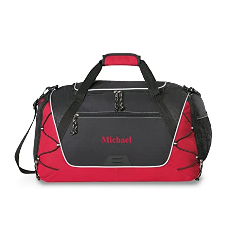 9942635f03dc Amazon.com  Personalized Sports Duffel Bag - Personalized Gym Bag - Monogrammed  Sports Duffel Bag - Red Thread  Sports   Outdoors