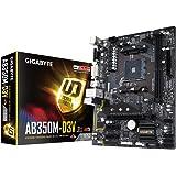 Gigabyte GA-AB350M-D3V Scheda Madre, AMD B350, Nero