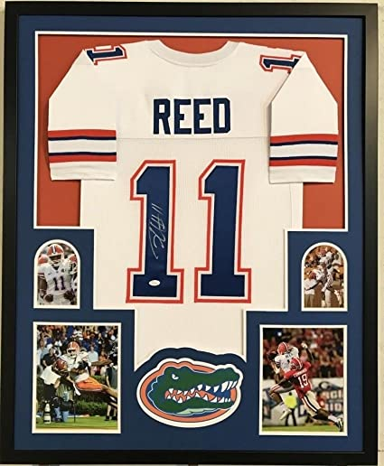 76a458dd337 Jordan Reed Autographed Signed Florida Gators 34X 42 Custom Framed Jersey  Memorabilia - JSA Authentic at Amazon's Sports Collectibles Store