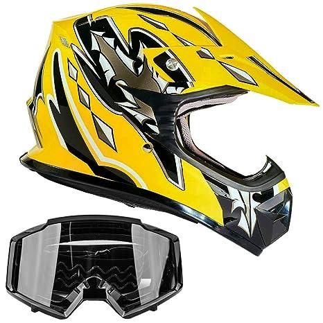 Amazon.com: Typhoon - Casco y gafas para motocross, quad ...