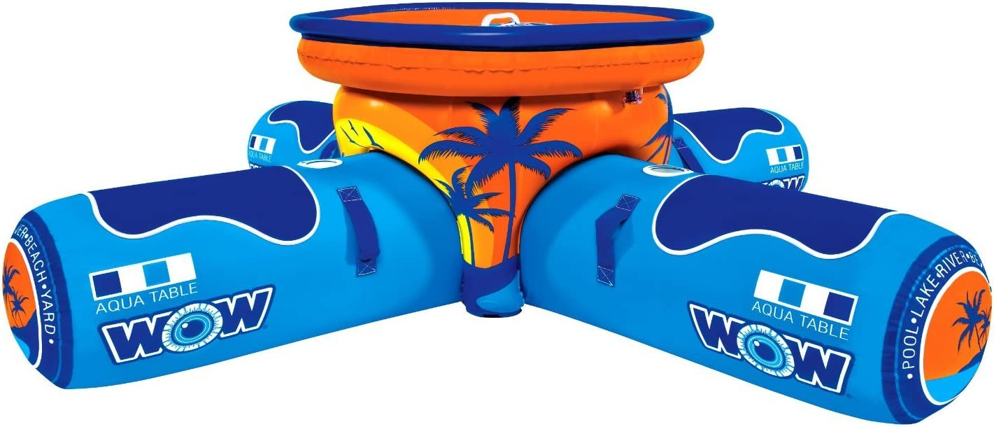 WOW World of Watersports, 12-2000 Aqua Table, Inflatable Floating Picnic Table, 2 to 4 Person [並行輸入品]